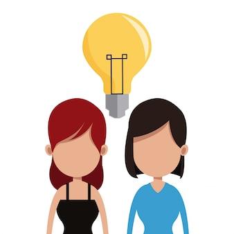 Komunikacja zespołu pomysłów kobiet