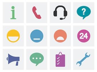 Komunikacyjne pojęcie ikony ilustracyjne