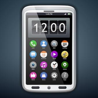 Komunikator koncepcyjny z ikonami aplikacji.