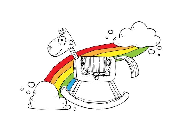 Koń na biegunach szkic