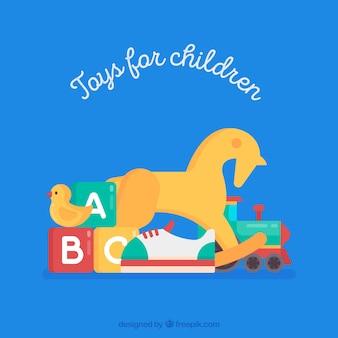 Koń na biegunach zabawki dla dzieci