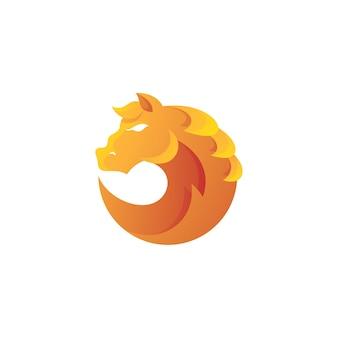 Koń ogier głowa włosy grzywa logo ikona