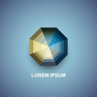 Koncentryczne ośmiokąty logotyp