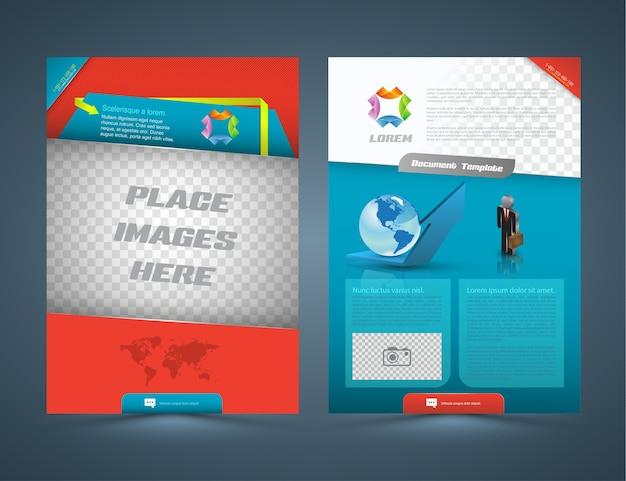 Koncepcja abstrakcyjna biznesowych ulotka broszury projektowania układu