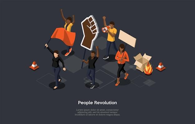 Koncepcja akcji masowego protestu.