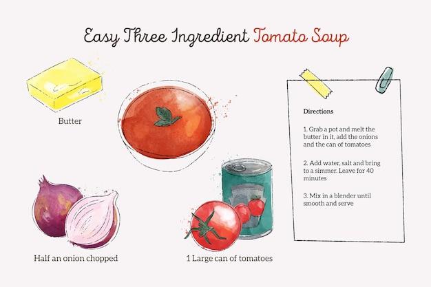Koncepcja akwarela przepisy kulinarne