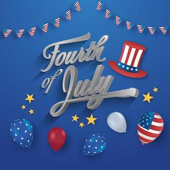 Koncepcja amerykańskiego dnia niepodległości.