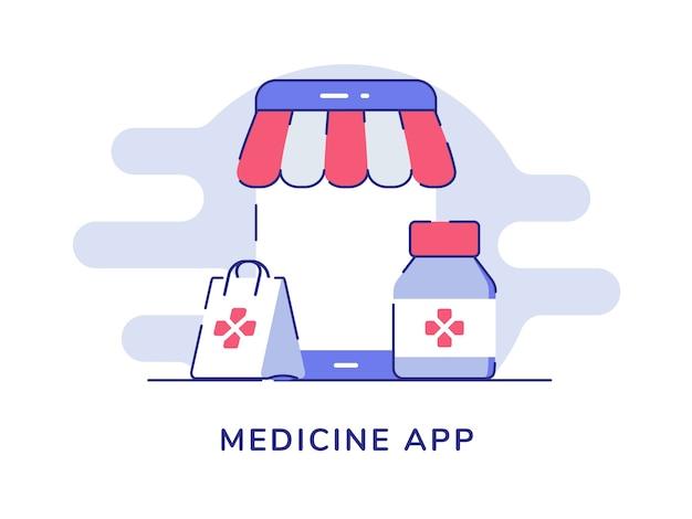 Koncepcja aplikacji medycyny na białym tle