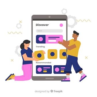 Koncepcja aplikacji mobilnych dla strony docelowej