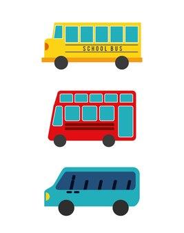 Koncepcja autobus na białym tle projekt