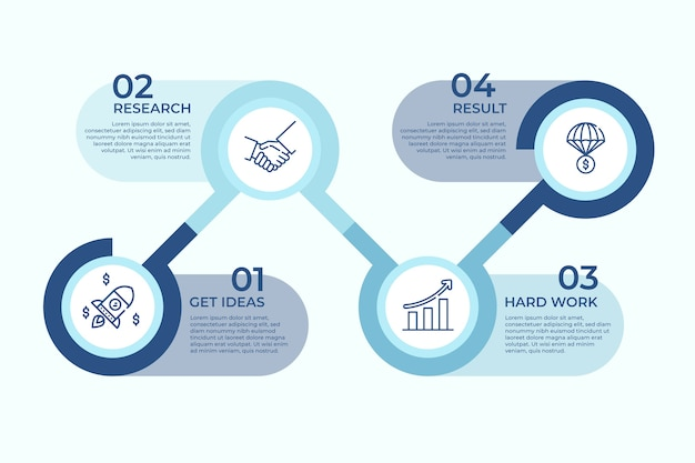 Koncepcja badań biznesowych infographic