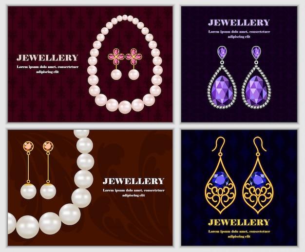 Koncepcja baner biżuterii