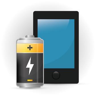 Koncepcja baterii z ikona designu