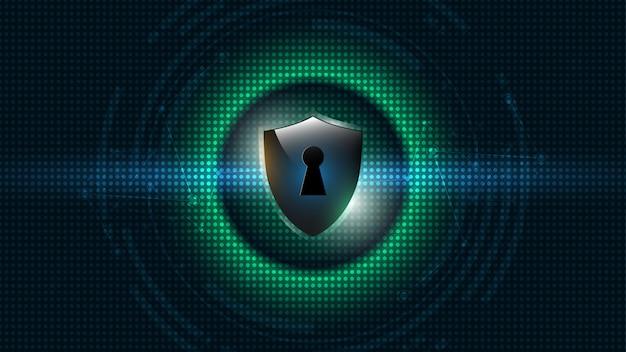 Koncepcja bezpieczeństwa chroniona osłona tarczy bezpieczeństwo cyber
