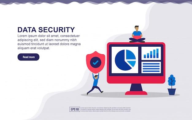 Koncepcja bezpieczeństwa danych na stronie docelowej.