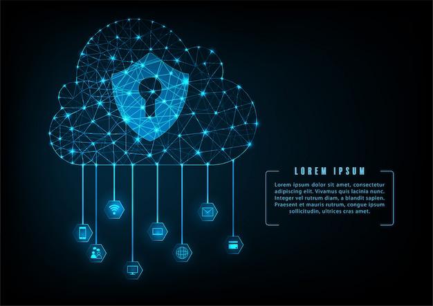 Koncepcja bezpieczeństwa danych w chmurze.