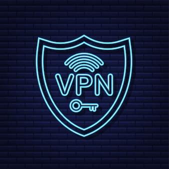 Koncepcja bezpiecznego połączenia vpn przegląd połączeń w wirtualnej sieci prywatnej styl neonowy
