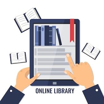 Koncepcja biblioteki online.
