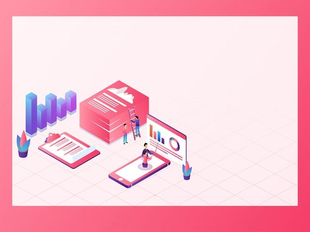 Koncepcja Big Data Analysis. Premium Wektorów