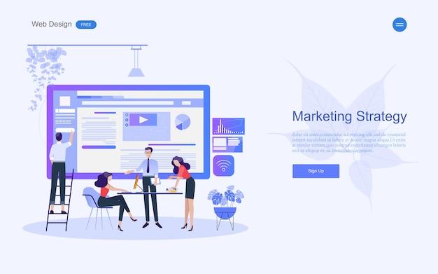 Koncepcja Biznesowa Dla Marketingu I Pracy Zespołowej. Premium Wektorów