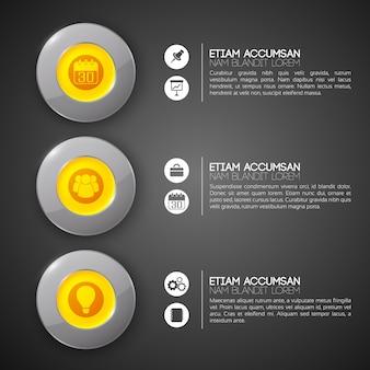 Koncepcja biznesowa infografika sieci web