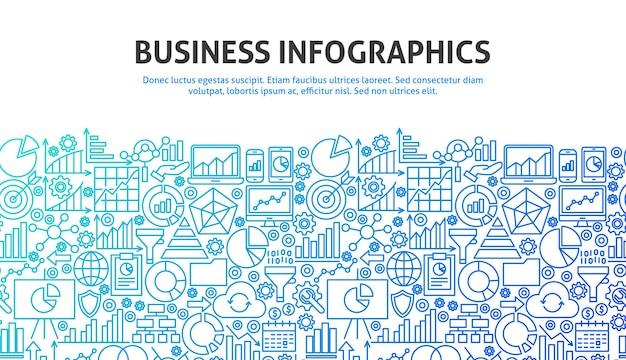 Koncepcja biznesowa infografiki. ilustracja wektorowa projektowania strony internetowej linii. szablon transparentu.