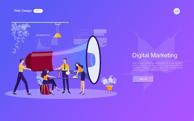 Koncepcja biznesowa marketingu cyfrowego.