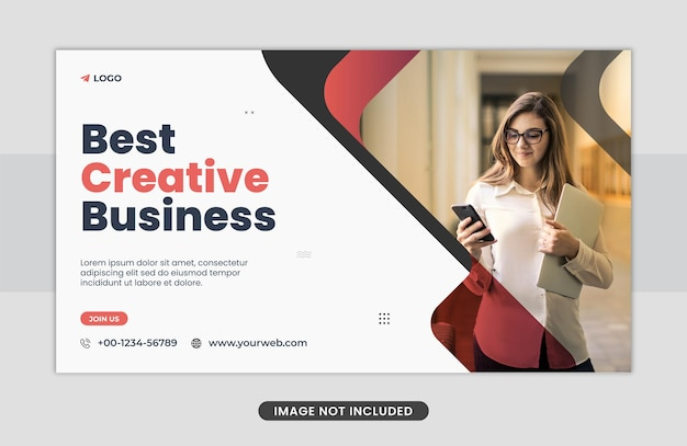 Koncepcja biznesowa projekt szablonu banera internetowego