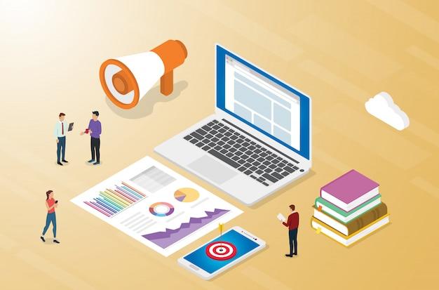 Koncepcja biznesowa reklamy lub reklamy z marketingiem zespołowym