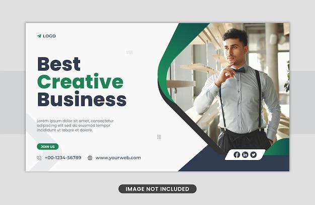 Koncepcja biznesowa szablon projektu banera internetowego