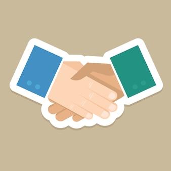 Koncepcja biznesowa wektor - uścisk dłoni w stylu płaski