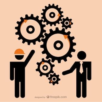 Koncepcja biznesu wektor