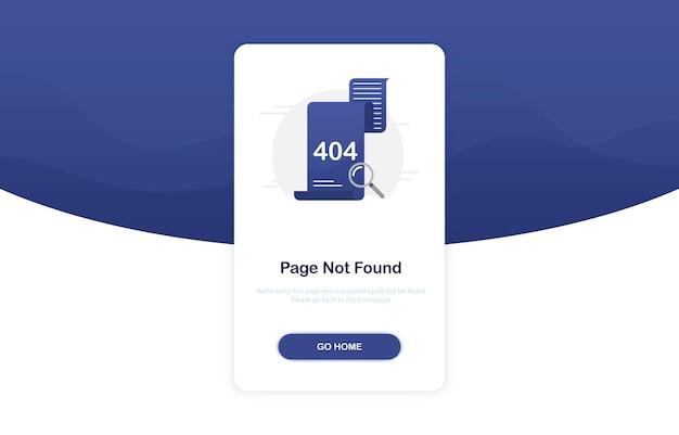 Koncepcja błędu 404 dla strony docelowej w płaskiej konstrukcji