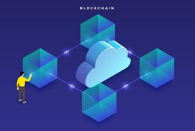 Koncepcja blockchain o płaskiej konstrukcji