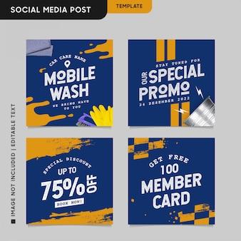 Koncepcja branży motoryzacyjnej na instagramie w celu promocji w mediach społecznościowych