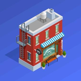 Koncepcja budynku zakładu fryzjerskiego