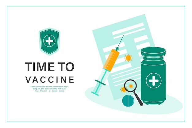 Koncepcja butelki szczepionki koronawirusowej