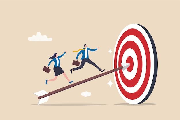 Koncepcja Celu Osiągnięcia I Poprawy Biznesu Premium Wektorów