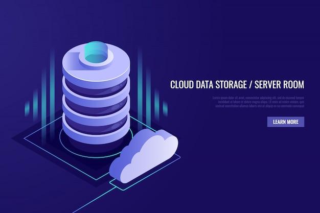 Koncepcja cloud computing. web hosting i technologia chmury.