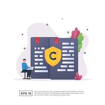 Koncepcja copywritingu z osobą trzymającą laptopa
