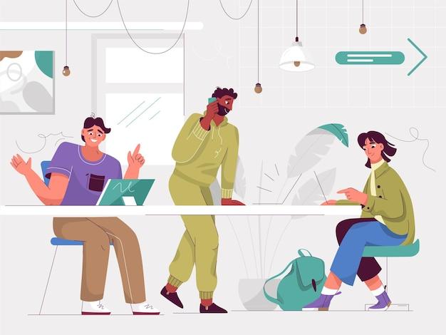 Koncepcja coworkingu na otwartej przestrzeni