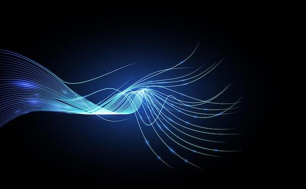 Koncepcja cyber streszczenie technologii. tło wektor