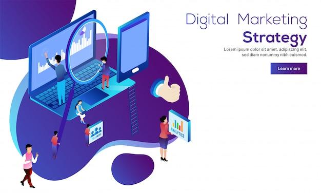Koncepcja cyfrowej strategii marketingowej.