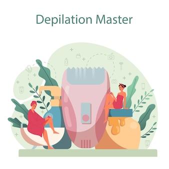 Koncepcja depilacji i depilacji. pomysł na metody usuwania włosów. zabieg kosmetyczny depilacji. idea pielęgnacji i urody ciała i skóry.