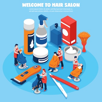 Koncepcja dla zakładów fryzjerskich