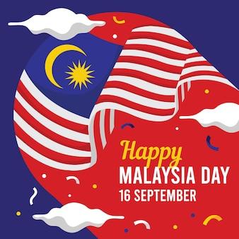 Koncepcja Dnia Malezji Premium Wektorów