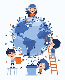 Koncepcja dnia matki ziemi