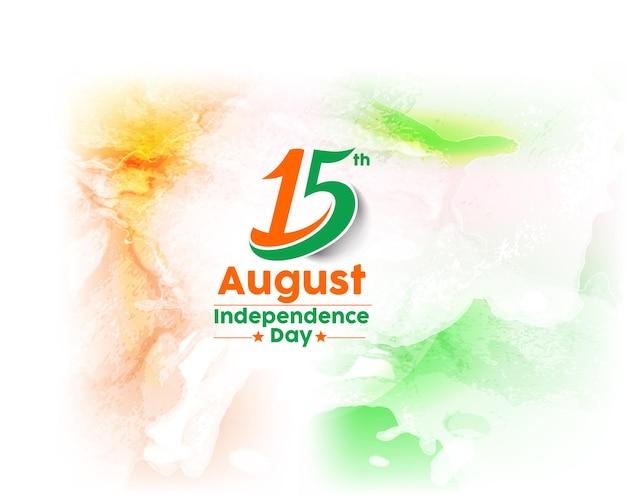 Koncepcja dnia niepodległości indii z tekstem hindi swatantrata diwa 15 sierpnia