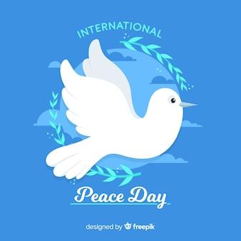Koncepcja dnia pokoju z płaska gołębica