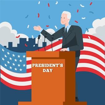 Koncepcja dnia prezydenta w płaskiej konstrukcji